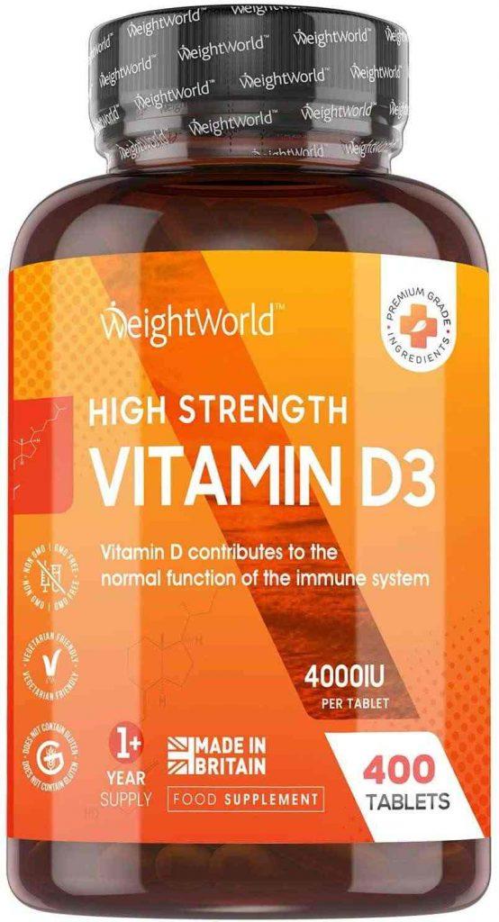 Suplemento de vitamina d de la marca Weightworld